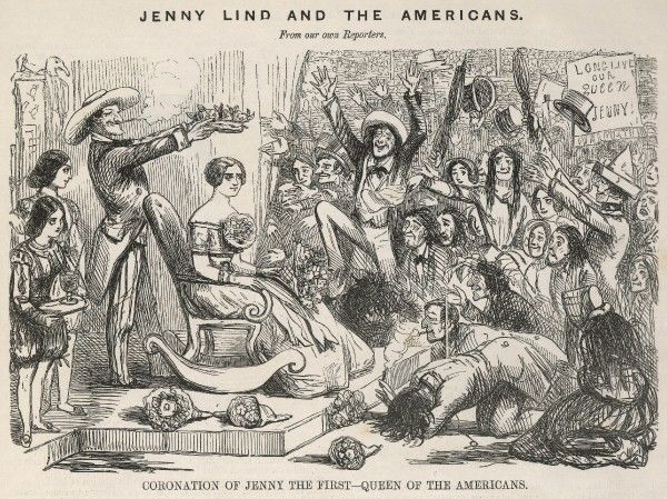 JENNY LIND Swedish singer she bowls over the audiences of America