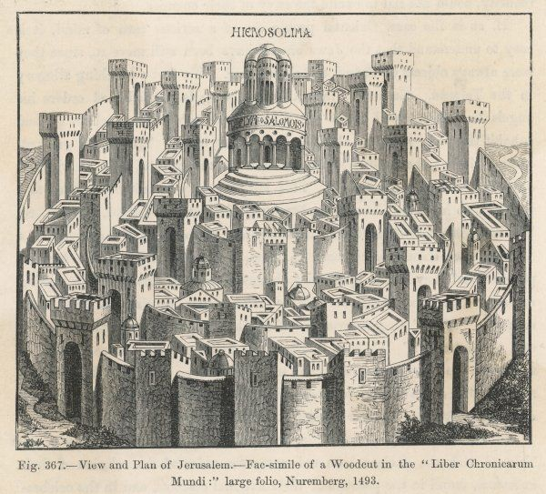 The city of Jerusalem as depicted in the 15th century, and as the pilgrims to the Holy Land expected to see it !