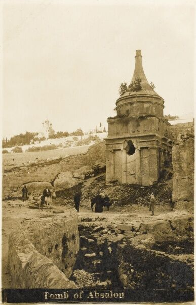 Yad Avshalom (Absalom's Shrine), also known as the Tomb of Absalom - an ancient tomb with a conical roof located in the Kidron Valley in Jerusalem, Israel. For centuries, it was the custom among passers by to throw stones at the monument