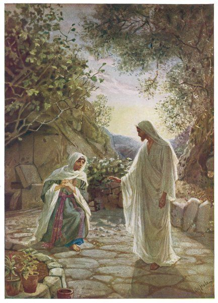 Jesus appears, after his death, to Mary Magdalen