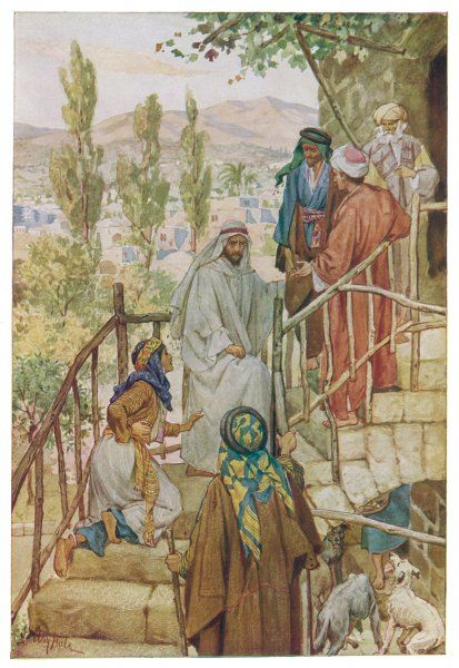 Jesus heals the daughter of a woman of Canaan
