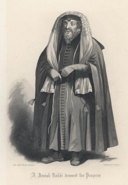 A Jewish rabbi in traditional costume