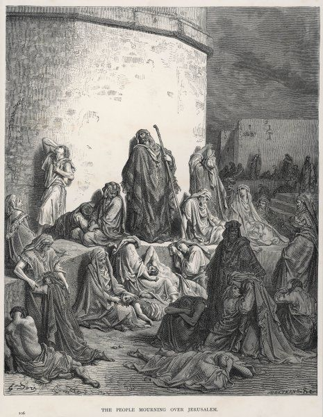 Nebuchadnezzar II, after defeating the Jews, takes many of them captive to Babylon, where they are very unhappy and sit around moping and thinking about Jerusalem