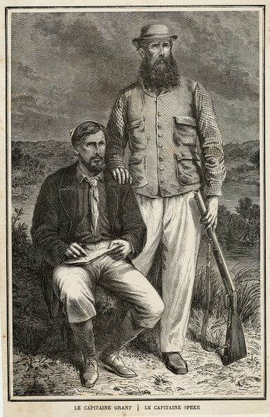 JAMES AUGUSTUS GRANT Traveller (seated on left), with his fellow-traveller Speke, in Africa in 1863
