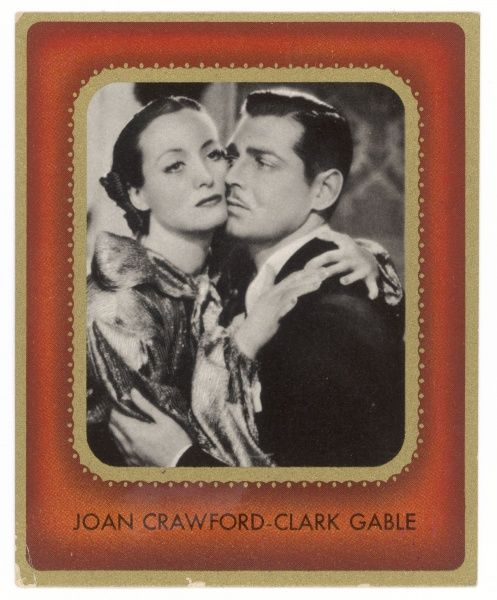 JOAN CRAWFORD American film actress with Clark Gable