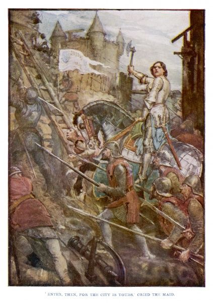 Joan of Arc urges the French army to attack the last English fortress at Tournelles and wins Orleans back for the French