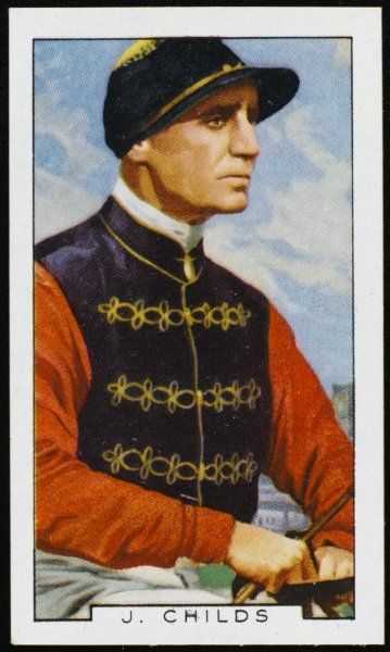 Joe Childs, jockey, in the colours of King George V