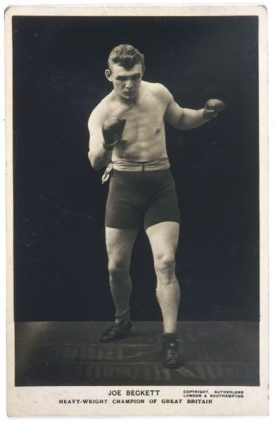 Joe Beckett (1892-1965), Heavyweight Boxing Champion of Great Britain, in action