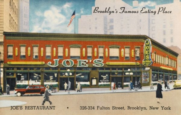 Joe's Restaurant, Fulton Street, Brooklyn, New York City, America