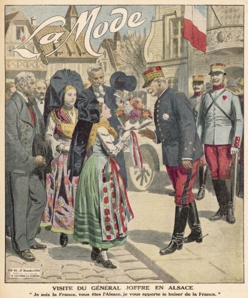 General Joffre visits Alsace, now reunited with France