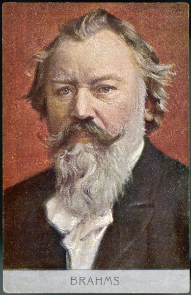 Johannes Brahms, German composer and musician