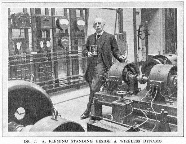 JOHN AMBROSE FLEMING English electrical engineer; contributed to development of telephony, electric lighting and wireless telegraphy