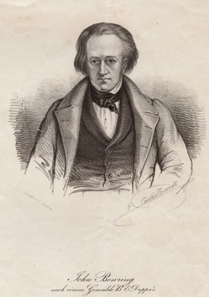 John Bowring, 1792 - 1872, English political economist, the 4th Governor of Hong Kong. Date