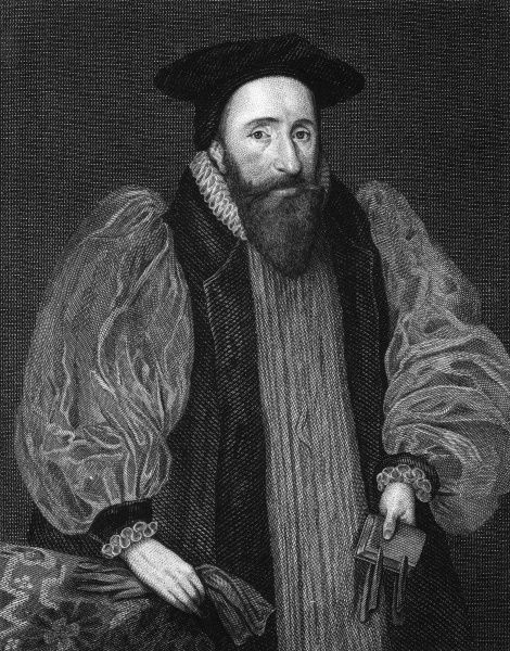 JOHN BRIDGEMAN Bishop of Chester, holding a book and a pair of gloves. Done in 1623. Date: 1577 - 1652