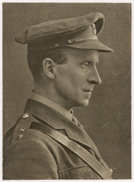 JOHN BUCHAN Scottish author and administrator, as an officer during World War One