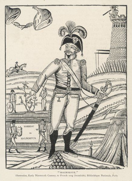JOHN CHURCHILL 1ST DUKE OF MARLBOROUGH An early 19th century French satire of the English military commander