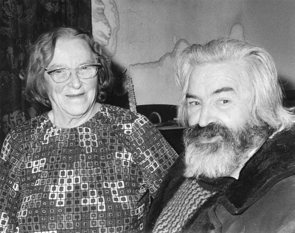 John Conrad Russell, 4th Earl Russell (1921-1987) and his mother Dora Black, Lady Russell (1894-1986). Dora Black was a British author, feminist and socialist campaigner, and the second wife of the philosopher Bertrand Arthur William Russell