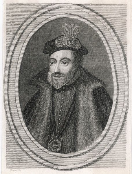 DUKE OF NORTHUMBERLAND AND EARL OF WARWICK, JOHN DUDLEY English Statesman and soldier