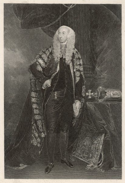 JOHN FITZGIBBON, first earl of CLARE Irish statesman, Lord Chancellor of Ireland, depicted in his official robes