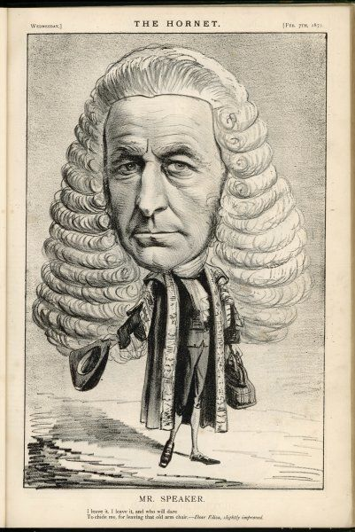 JOHN EVELYN DENISON Viscount Ossington, Speaker of the House of Commons