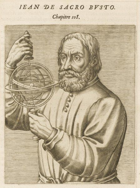 JOHANNES DE SACROBOSCO also JOHN OF HOLYWOOD English Mathematician. Author of treatises on astromony as well as mathematics