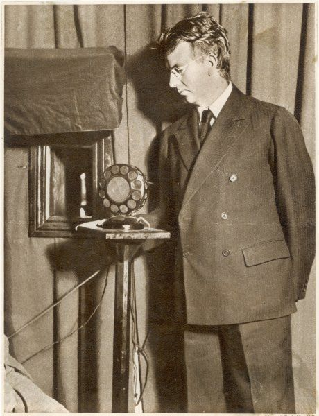 John Logie Baird, Scottish inventor, who invented the television