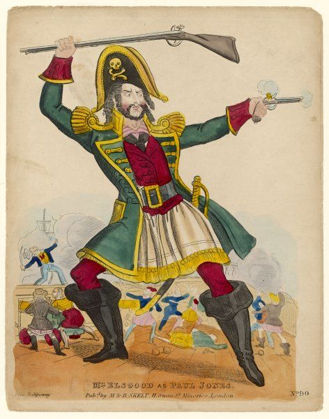 Americans would be indignant to see their gallant naval hero portrayed on the London stage as a PIRATE ! - yet here he is, as acted by Mr Elsgood with bravo galore