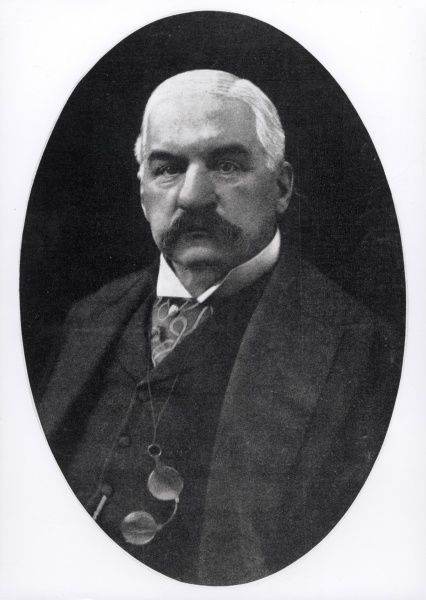 Photograph of John Pierpont Morgan, the banker and art collector
