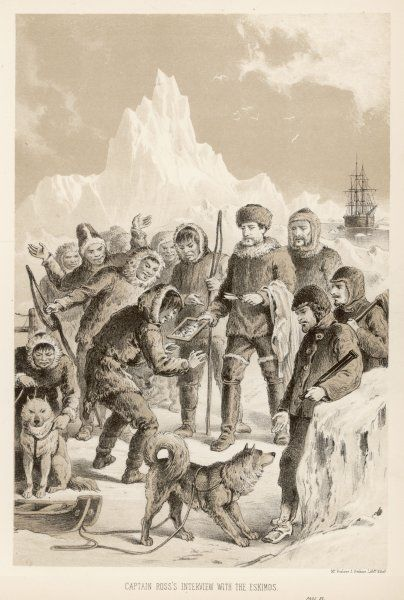 Sir John Ross on his first expedition: meeting a tribe of Eskimos