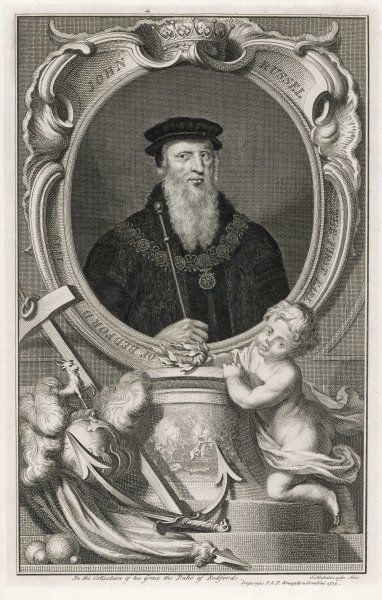JOHN RUSSELL, first earl of BEDFORD statesman who served Henry VIII and Mary I