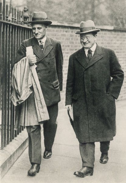 JOHN WHEATLEY (on the right, with Mr Trevelyan) circa 1924 socialist statesman