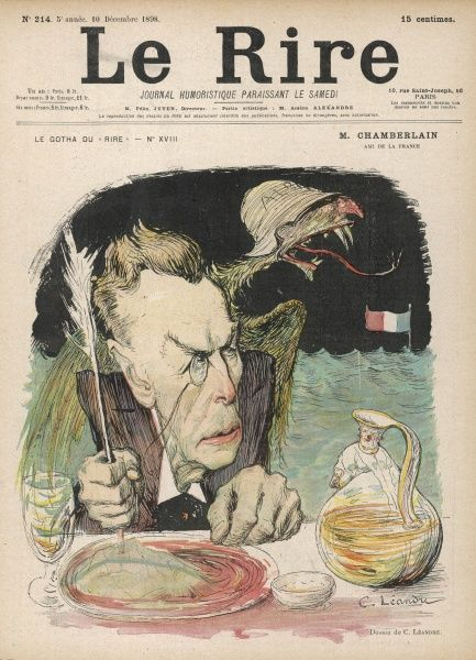 "JOSEPH CHAMBERLAIN Liberal MP satirised as the ""Friend of France&quot"
