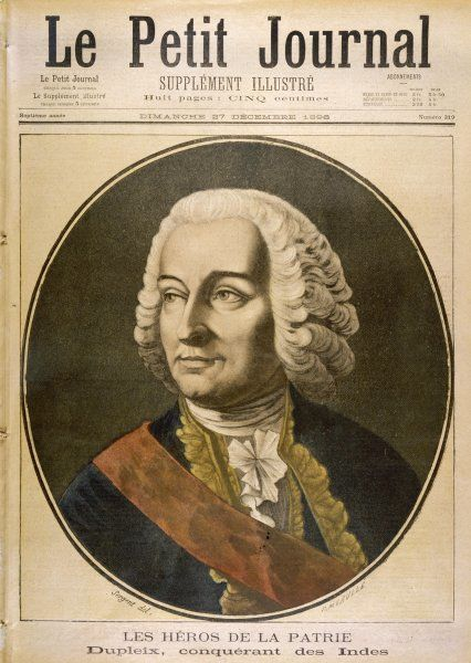 JOSEPH-FRANCOIS DUPLEIX Marquis, French colonial administrator in India