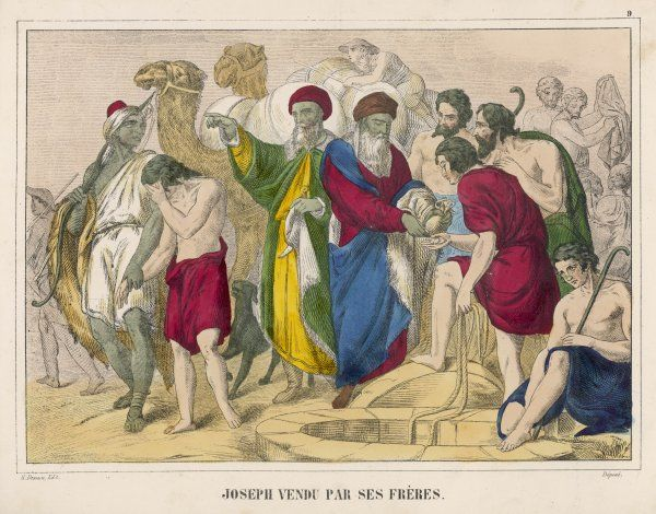 Joseph is sold by his brothers to some merchants - an unkindness which they will later come to regret