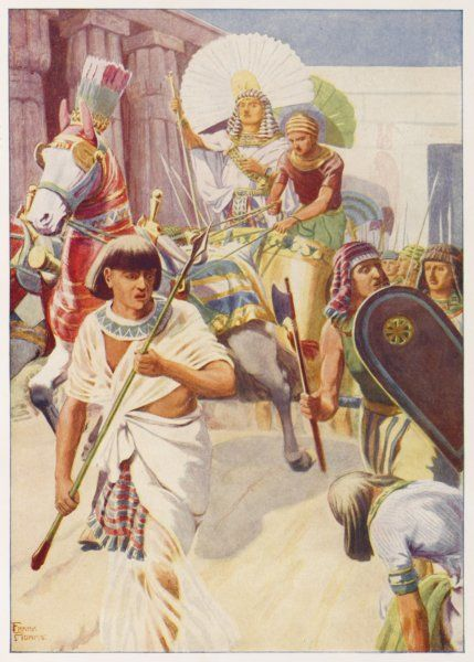 Joseph prospers in Egypt and rides in a chariot inferior only to Pharaoh's own