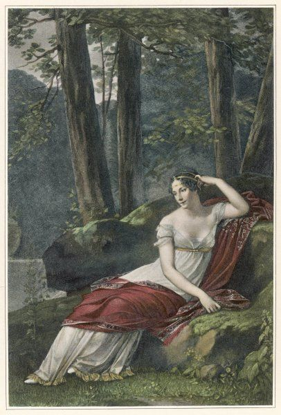 JOSEPHINE, empress of France, in the park at Malmaison