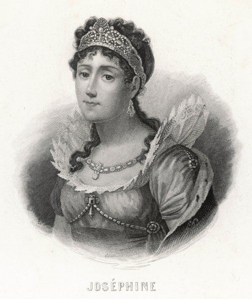 MARIE JOSEPHE ROSE TASCHER de BEAUHARNAIS empress of Napoleon I wearing coronet and necklace