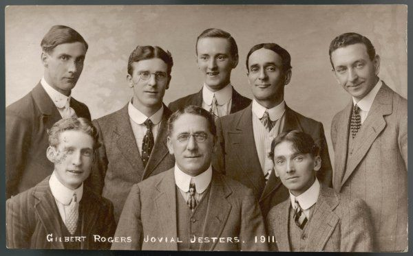 Gilbert Rogers' Jovial Jesters pose for a smart group photograph