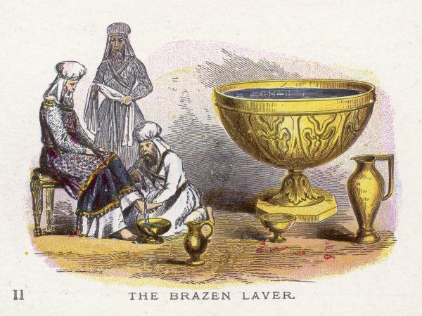 Ceremonial objects : THE BRAZEN LAVER