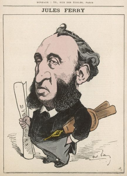 Jules Francois Camille Ferry (1832-1893), French republican statesman, Prime Minister, and President of the French Senate