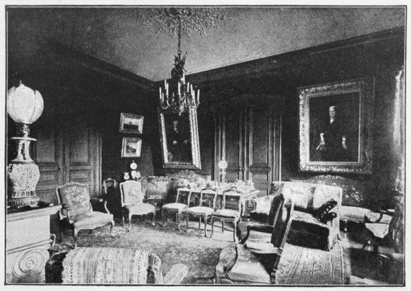 JULES VERNE His drawing room at 1 rue Charles Dubois, Amiens