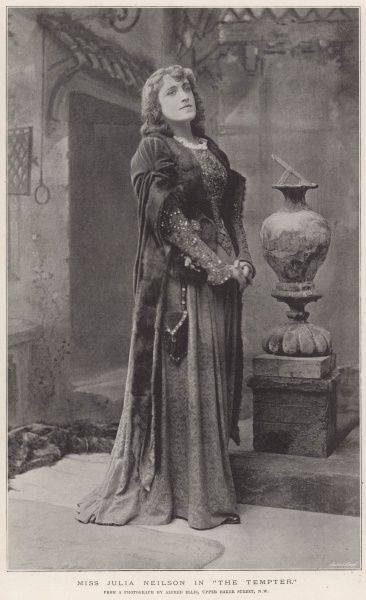 JULIA NEILSON (1868 - 1957) English actress in The Tempter Date: 1894