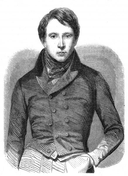 JULIEN AUGUSTE PELAGE BRIZEUX French poet, credited with 'pieces of an unheard-of perfection'. This portrait, at age 30, is the only one known. Date: 1803 - 1858