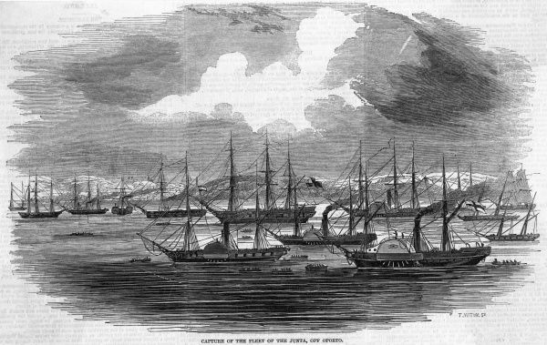 Government forces enter Oporto and the fleet of the Junta, opposing queen Maria II, is taken