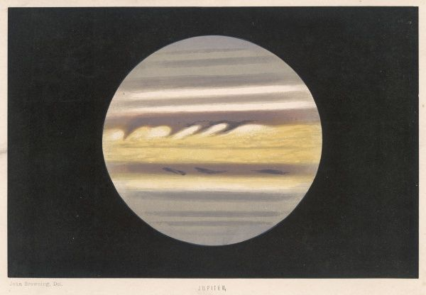 The planet as observed and drawn by John Browning