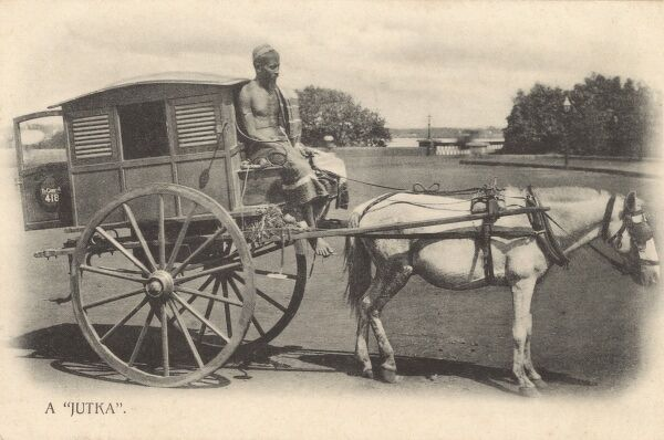A Jutka carriage or cab - India Date: circa 1910s