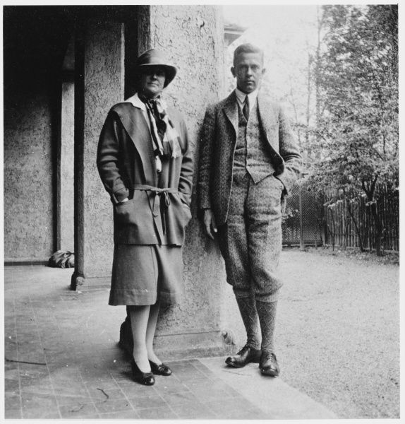 KARL GRUBER German biologist, zoologist and psychical researcher, with his wife