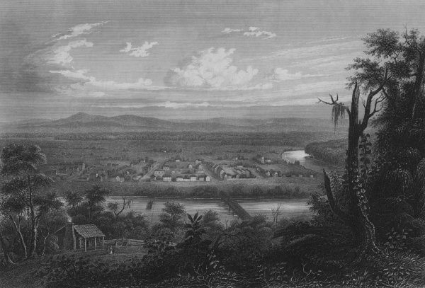 This village is located close to the oldest town in the American West (1703). Date: 1850