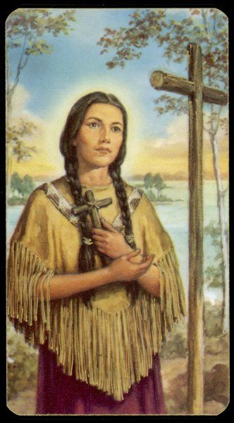 KATERI (CATHERINE) TEKAKWITHA Saint of Iroquois/Algonquin descent. Fleeing persecution, she settled in Quebec, where she devoted her life to God