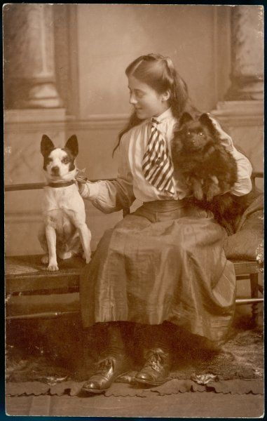 Kathleen Ellis Richards with her two dogs
